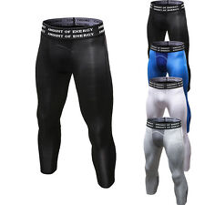 Men's Compression 3/4 Running Workout Tights Cycling Basketball Cropped Pants