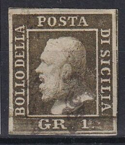 1859 SICILIA N.5 III TAVOLA USATO SPL FIRMA A.DIENA