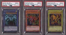 Yu-Gi-Oh!   Götterkarten Set - Obelisk, Slifer & Ra LC01   PSA 10 GEM MINT
