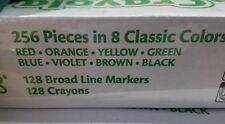 Crayola Crayons and Markers Combo Classpack, Eight Colors, 256/Set - CYO523349