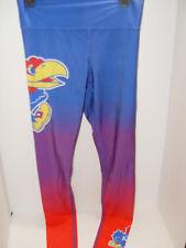 New NCAA KU Kansas University Jayhawks Ladies Sublimated Legging Blue Size Small