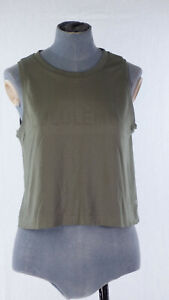 Lululemon X-STATIC®  Breeze By Muscle Crop Tank Top Logo Relaxed Fit Sports S