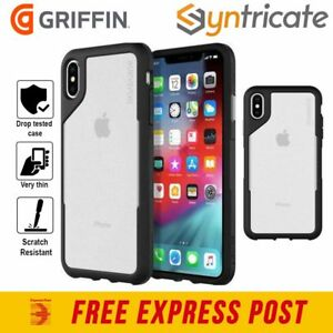 iPhone XS/X - Griffin Survivor Endurance Rugged Slim Tough Case - Black Gray