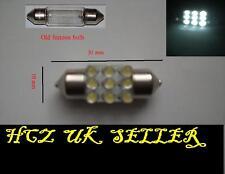 2x 9 LED 31mm Subaru Impreza WRX Interior Festoon Bulb WHITE UK