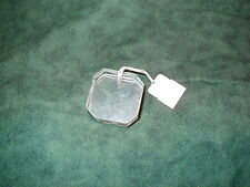 Vintage Large Square with cut corners, clear acrylic pendant