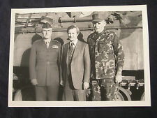USMC MAJGEN David B. Barker Governor James B Hunt Photograph Camp Lejeune NC USA