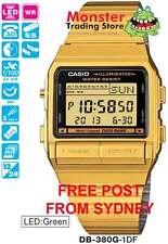 AUSSIE SELER CASIO WATCH 30-TELEMEMO 5-ALARMS DB-380G-1DF DB380G DB-380-1 DB-380