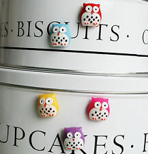 Lovely owl fridge,memo,decor strong magnets. Set 5 + free bag. Lovely gift idea