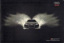 Audi RS4 2007-08 UK Market Sales Brochure Saloon Avant Cabriolet A4