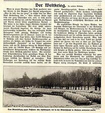 Winterschlacht in Masuren * Deutscher Schlittenpark * Bilddokument 1915