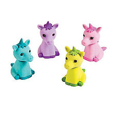 UNICORN PARTY Unicorns Eraser Pencil Topper Erasers Rubbers Pack of 4 Free Post