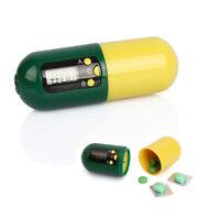 Digital Pill Medicine Box Timer Alarm Clock Reminder Storage Container Practical