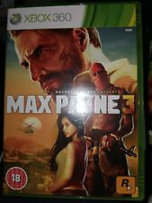 Max Payne 3 (Microsoft Xbox 360, 2012) Excellent con 2 discs 18 cert Manual incl