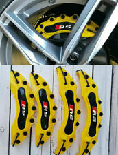 AUDI SET 4 COVER / COPRI PINZE FRENI GIALLO / NERO LOOK RS -1