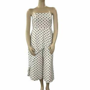 Size 16 Calli Women's Nydia Jumpsuit White Polka Dot (RRP$119) NEW