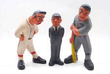 3 VINTAGE 1941 RITTGERS BASEBALL PLAYER UMPIRE FIGURES PLASTER ARTIST RESTORED