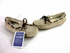 SILVARE WOMEN'S MOCCASIN SLIPPER SHOES MICROFIBER TAN IMPORTED US SIZE 6 MEDIUM