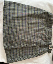 brandy melville Green blue plaid wrap buckle Emerson skirt NWT One Size