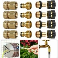 1/2/4 Pairs Universal Garden Hose Quick Connect Brass Hose Tap Adapter Connector