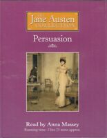 Jane Austen Persuasion 2 Cassette Audio Book Abridged Anna Massey FASTPOST