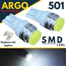 501 LED Xenón Blanco T10 Coche W5w Luz Lateral Interior Matrícula 12v Cuña Bulbo