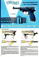 Walther c1958 Auto Pistol Model P 38 Illustrated Manual