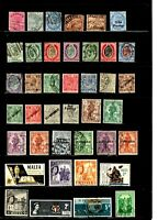 Malta stamps, small collection of 40 mostly classics, mint and used, SCV $38