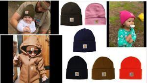 Carhartt Kids Acrylic Watch Hat Toddlers 2-4 8-14 y Winter Beanie Knit Cap