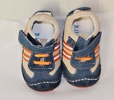 RileyRoos Baby Boy Crib Shoes Size 3-6 Months Sneakers Riley Roos Suede Leather