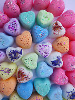 25 Lush Smelling mini Hearts Bath Bombs Cute Gifts