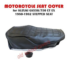 MOTORCYCLE SEAT COVER SUZUKI GS550 GS750 ET EX 1980-1982 STEPPED SEAT MODEL