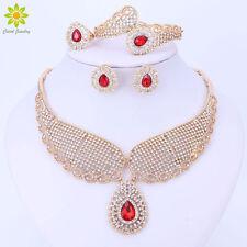 Dubai Crystal Jewelry Set Luxury Wedding African Beads Crystal Necklace Sets