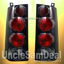 03-08 CHEVY EXPRESS VAN GMC SAVANA RED CLEAR BLACK TAIL LIGHTS DIRECT FIT PAIR
