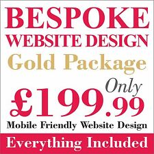 Gold Package Website design/development + Web domain and hosting