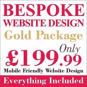 Gold Package Website design/development + Web domain and hosting