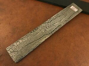 Handmade Damascus Steel Billet Bar-Knife-Razor Making Supplies-Annealed-Db84