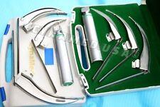 German Mccoy Flexi Tip Fiberoptic Led Laryngoscope Set Mac 1 Amp2 Amp3handle