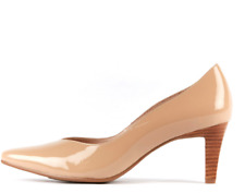 """NEW  """"Supersoft"""" Martine Mid Heel Shoes - Nude Patent  -Size 10  Leather Comfort"""
