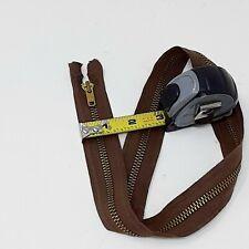 "True Vintage 1950's TALON BRASS PULL 24"" Separating Brown Military Zipper USA #5"