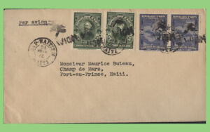 Haiti 1927 Airmail cover from Cape Haitien to Port Au prince. Year slug inverted