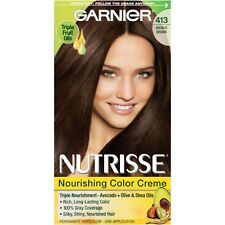 Garnier Nutrisse Nourishing Color Creme, 413 Bronze Brown