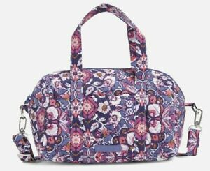 NWT VERA BRADLEY Mini Satchel Purse Tote Bag in Magenta Medallion R$85