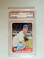 1965 TOPPS DON ELSTON # 436 PSA 8 CHICAGO CUBS...RARE
