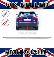 CHROME REAR TRUNK TAILGATE LID MOULDING TRIM S.STEEL FOR NISSAN QASHQAI 2014>