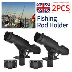 UK 1/2Pcs 360° Degree Adjustable Fishing Rod Rests Holder for Boat Kayak Yacht