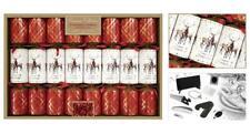 8 Premium Christmas Crackers, Tartan Stag Design - RSW