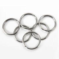 DIY New 10pcs Metal Flat Split Rings Key Ring Key Holder Keyfob Accessories