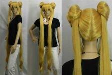 New Mixed golden Sailor Moon Tsukino Usagi Cosplay Party Resistant Women Wigs