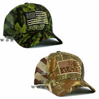 USA American Flag hat Tactical Mesh Flag Hunter Camo Snapback Baseball cap