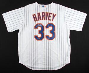 Matt Harvey Signed Mets Authentic Majestic Jersey ( LOJO COA ) Former N Y Ace